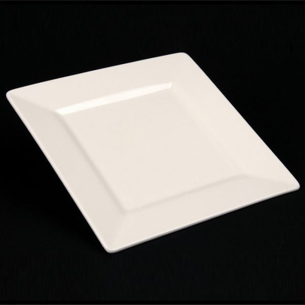 WHITE CHINA SQUARE PLATE 7""