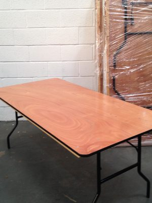 3 ft Wide x 6 ft Trestle Table ( seats 6 )