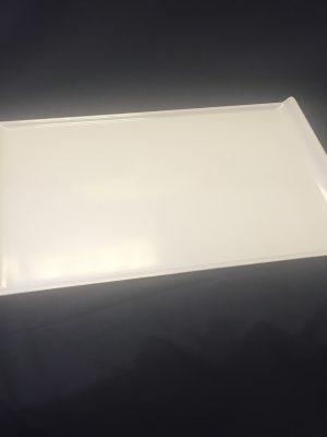 """MELAMINE PLATTER WHITE 21"""" (530x330x25mm)"""